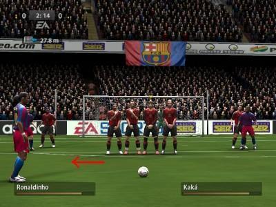 FIFA2006 直接任意球战术