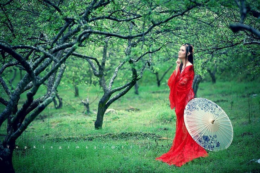 古典红衣美女古代红衣美女古典红衣红衣古典美女