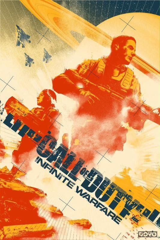 《使命召唤13》限定版游戏海报 众明星为角色配音