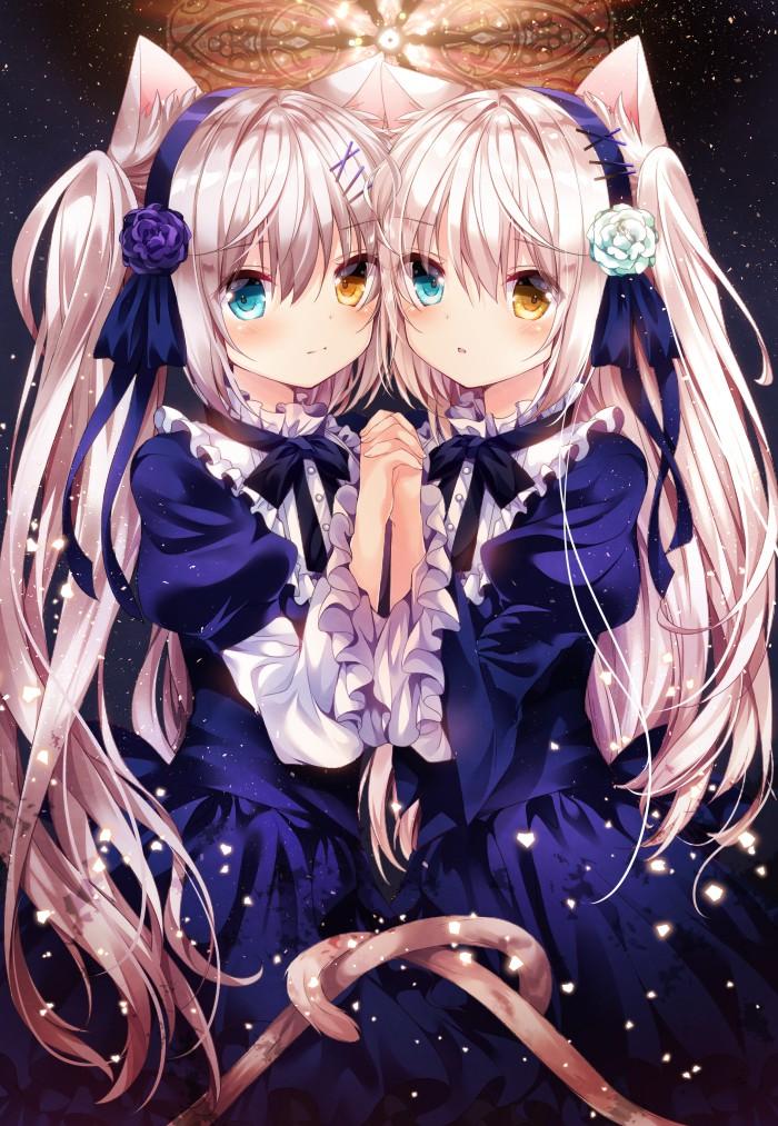查看第15 24张原图 萌萌的二次元猫耳女仆可爱动漫美少女 影视动漫 逗游