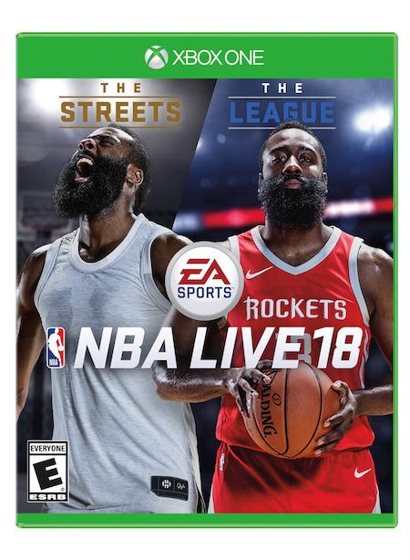《NBA Live 18》发售日/封面球星公布 火箭队哈登亮