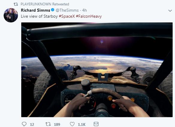 """《绝地求生》制作人分享游戏越野车""""上太空""""画面"""