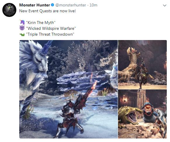 《怪物猎人:世界》新任务上线 三组怪物等你来砍