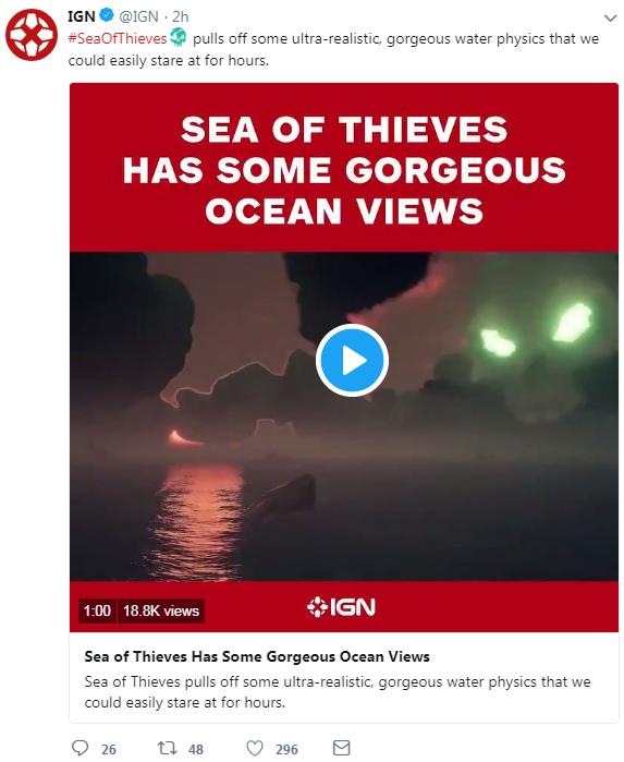 《盗贼之海》海水物理效果超级真实 看数小时不腻
