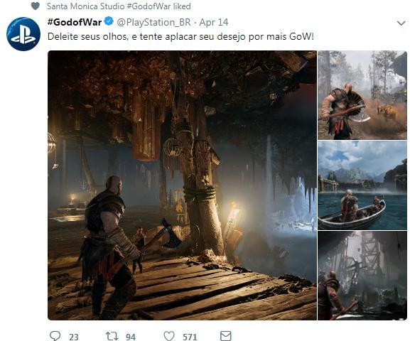 巴西PS官推分享《战神4》高清截图 让人大饱眼福