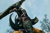 《战神4》全新预告片很刺激 奎爷大战巨魔BOSS