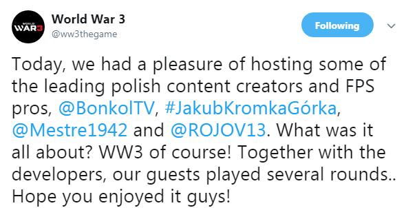 《第三次世界大战》曝开发进度 玩家期待游戏做完