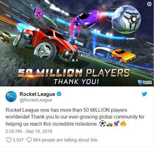 不愧是IGN9.3分大作!《火箭联盟》玩家数已突破5千万