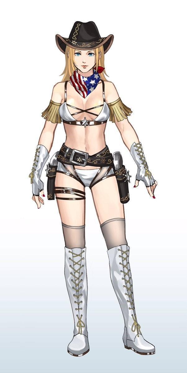 《死或生6》性感服装立绘公布 女牛仔蒂娜狂野奔放