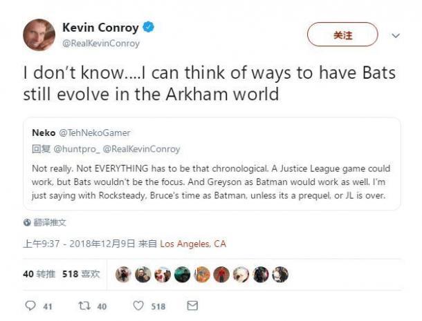 蝙蝠侠御用配音:蝙蝠侠在阿卡姆宇宙还有进化空间