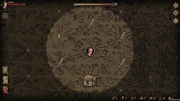 《暗黑地牢》风格卡牌游戏《Deck of Ashes》预告