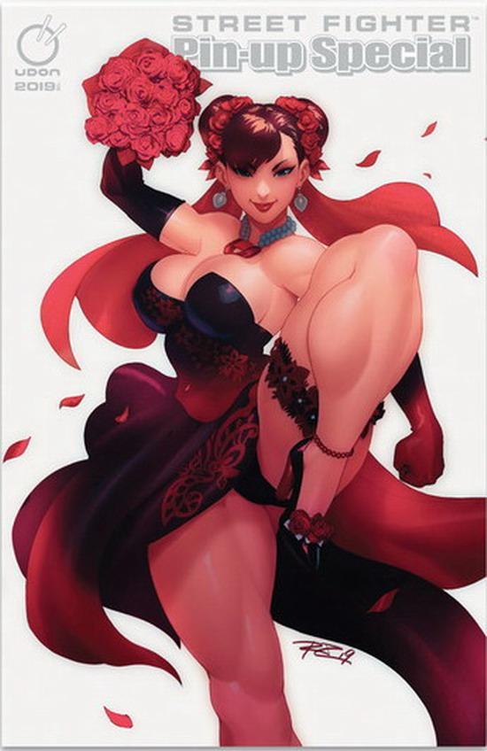 《街頭霸王》特別版插畫推出 新娘春麗大腿好吸睛