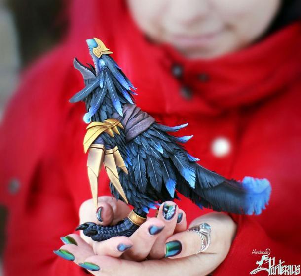 女艺术家制作《魔兽世界》生物雕塑 媲美官方手办
