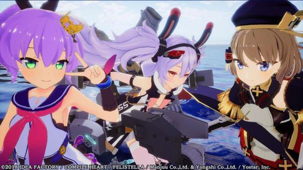 PS4《碧蓝航线:Crosswave》新图 性感舰娘魅力足