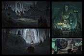 画师绘制战神续作同人概念图奎爷虐杀北欧神祇