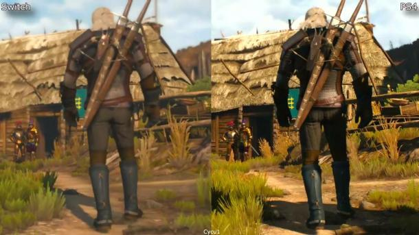 相差太大!《巫师3》Switch和PS4版画面对比