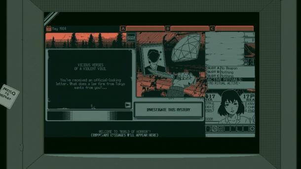 致敬伊藤润二!黑白点阵式恐怖游戏《恐怖的世界》公布实机演示