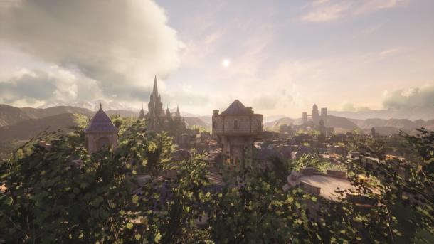 高玩虚幻4引擎重制《魔兽世界》暴风城 景色巍峨雄美