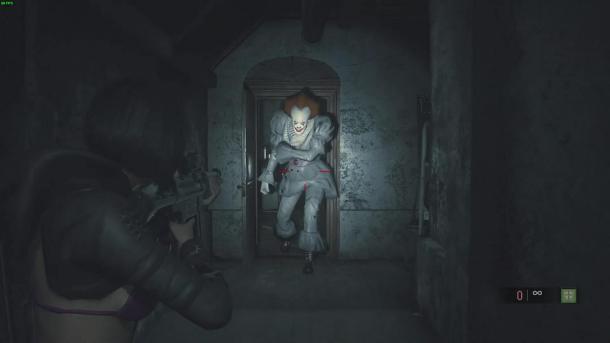 《生化危机2重制版》小丑回魂Mod 潘尼怀斯乱入吓死人