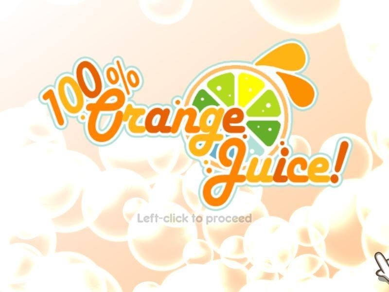 100%鲜橙汁图片