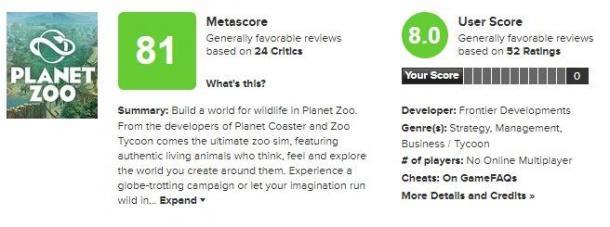 动物实在太可爱《动物园之星》IGN8.5分 M站均分81