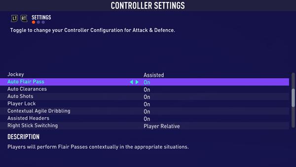 FIFA21自定义设置新增选项列表