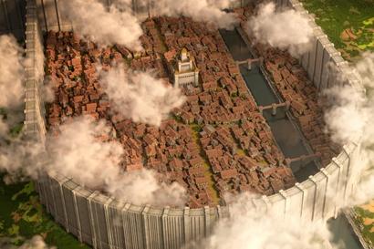 玩家在《我的世界》中还原《进击的巨人》希干…