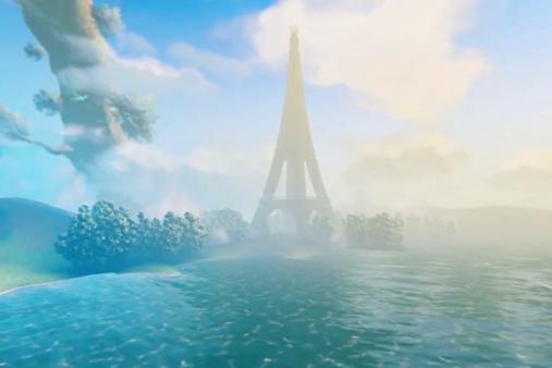 玩家在《英灵神殿》中打造埃菲尔铁塔