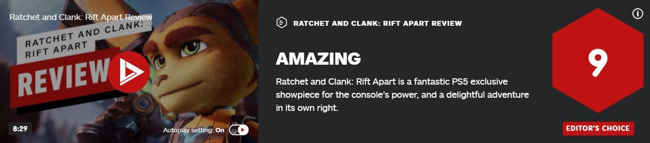 《瑞奇与叮当:分离》各媒体评分 一款不可错过的游戏 游戏资讯 第2张
