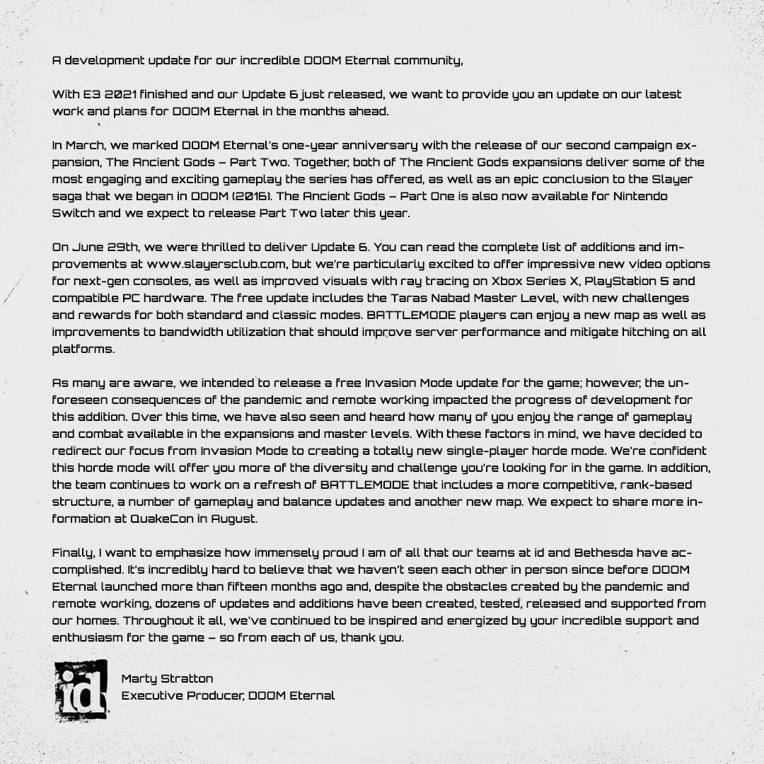 《毁灭战士:永恒》加入单人无限模式 战斗模式也升级 游戏资讯 第2张